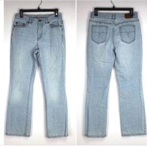 Lauren Denim Co Light Wash Size 4 Straight Jeans